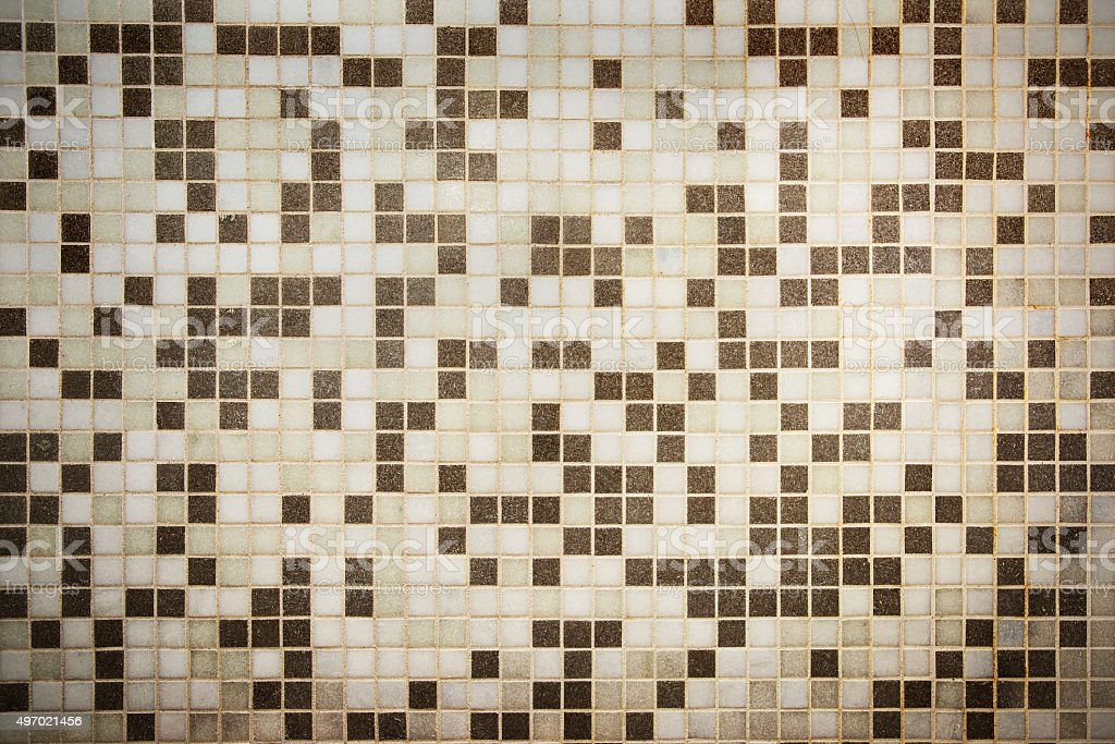Bathroom Shower Tile Wall Detail Background stock photo