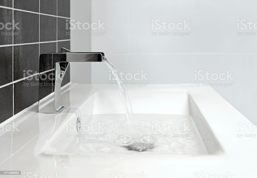 bathroom sink and tap stock photo
