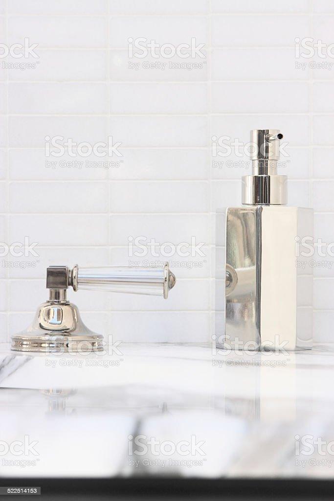 Bathroom Sink Faucet Vanity Decor stock photo