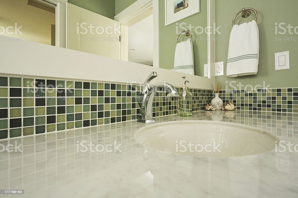Bathroom Sink of an Upscale home stock photo