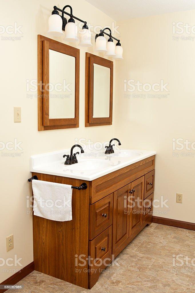 Bathroom Sink Vanity stock photo