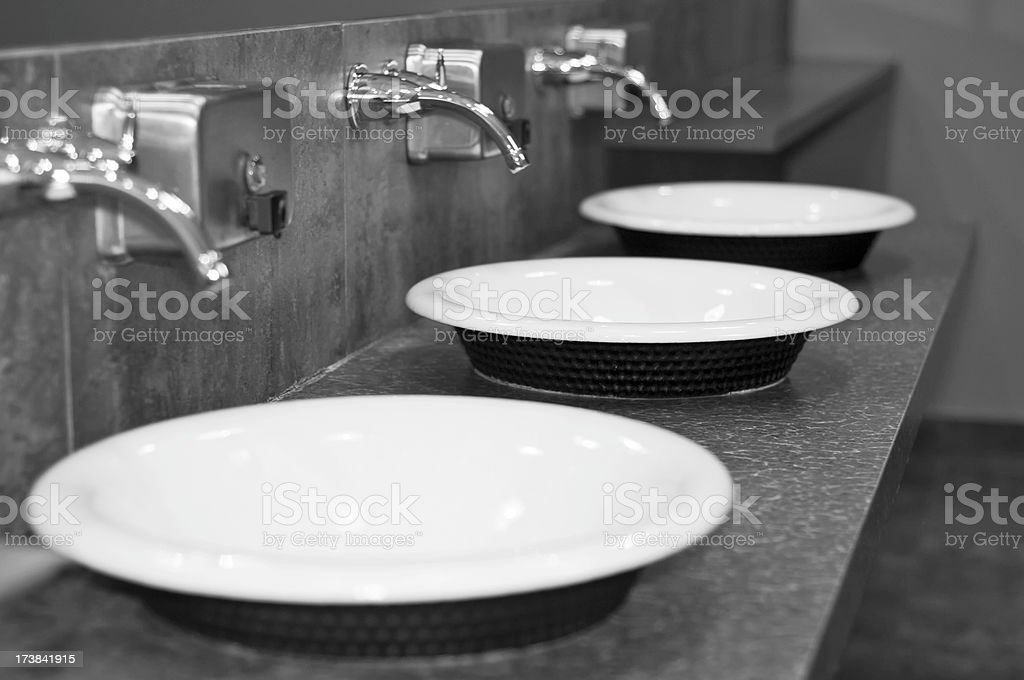 Bathroom Sinks royalty-free stock photo