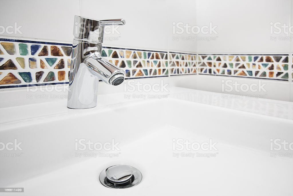 Bathroom tap royalty-free stock photo