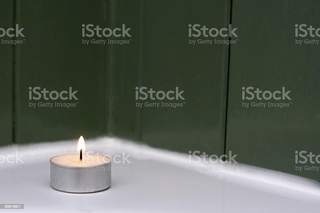 Bathroom tea light royalty-free stock photo