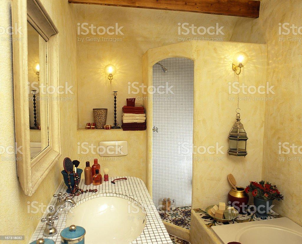 bathroom texan style stock photo