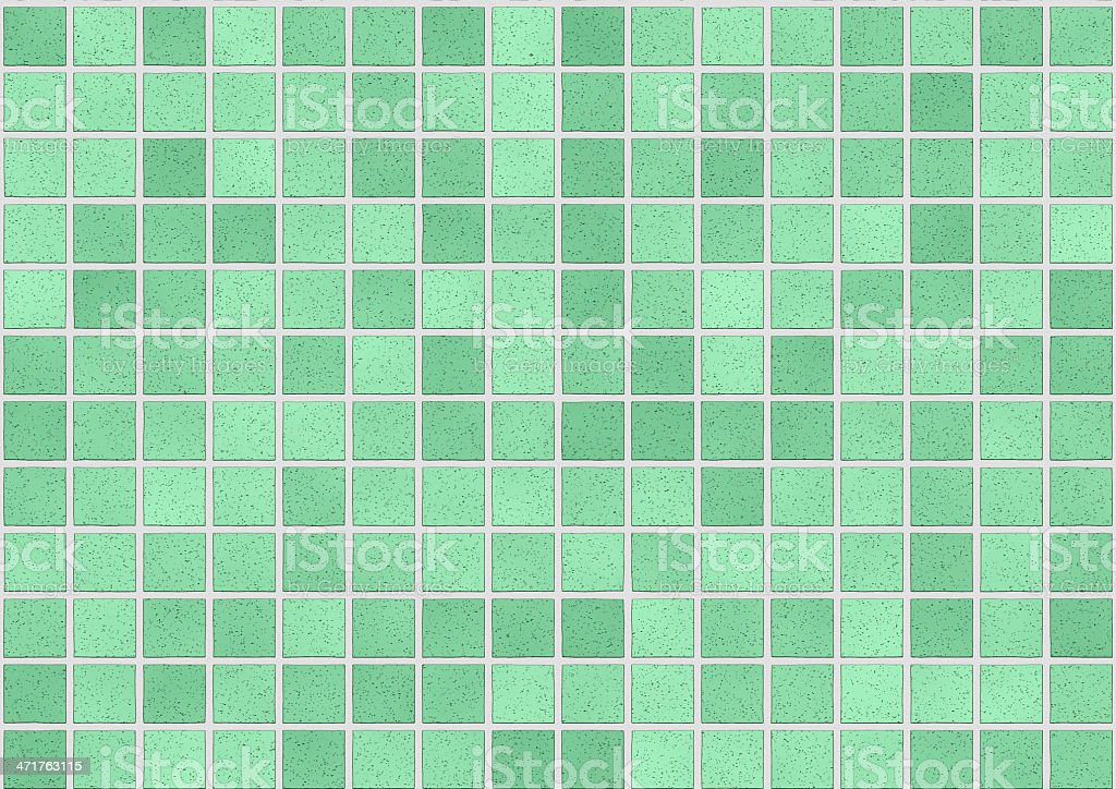 Bathroom Tiles in green color royalty-free stock photo