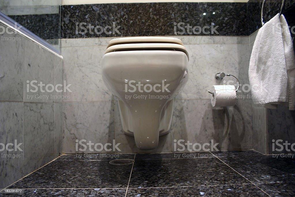 Bathroom toilet stock photo