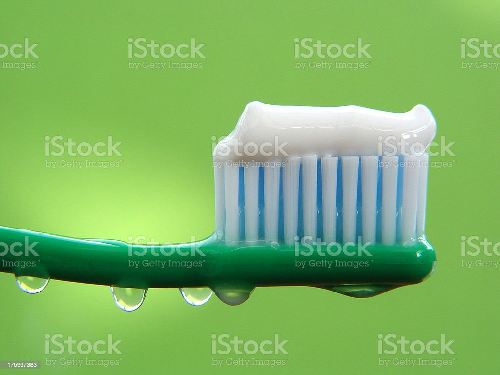 Bathroom - Toothbrush With Toothpaste royalty-free stock photo