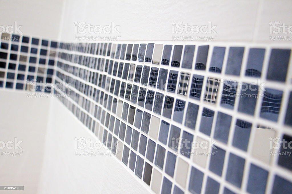 Bathroom wall stock photo