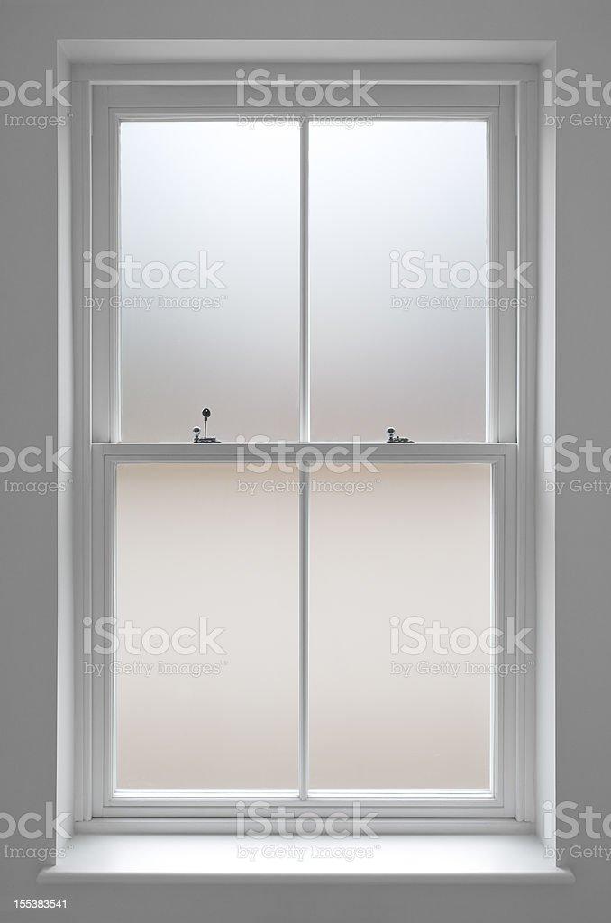 bathroom window stock photo
