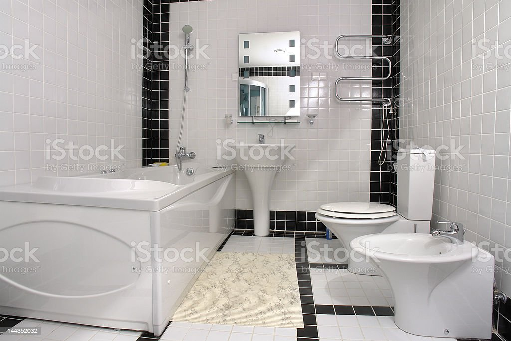 Bathroom with a jacuzzi royalty-free stock photo