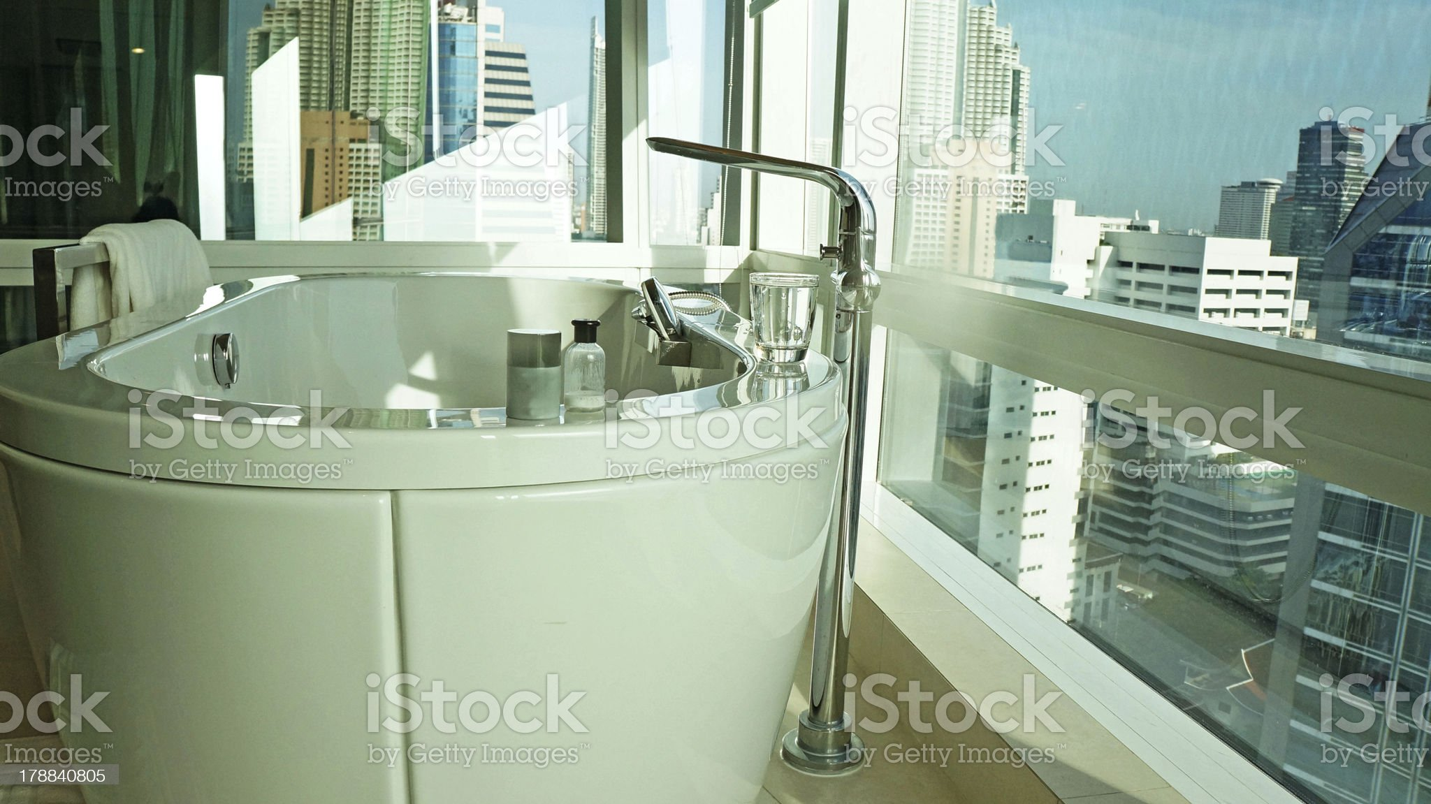 Bathroom with bath tub royalty-free stock photo