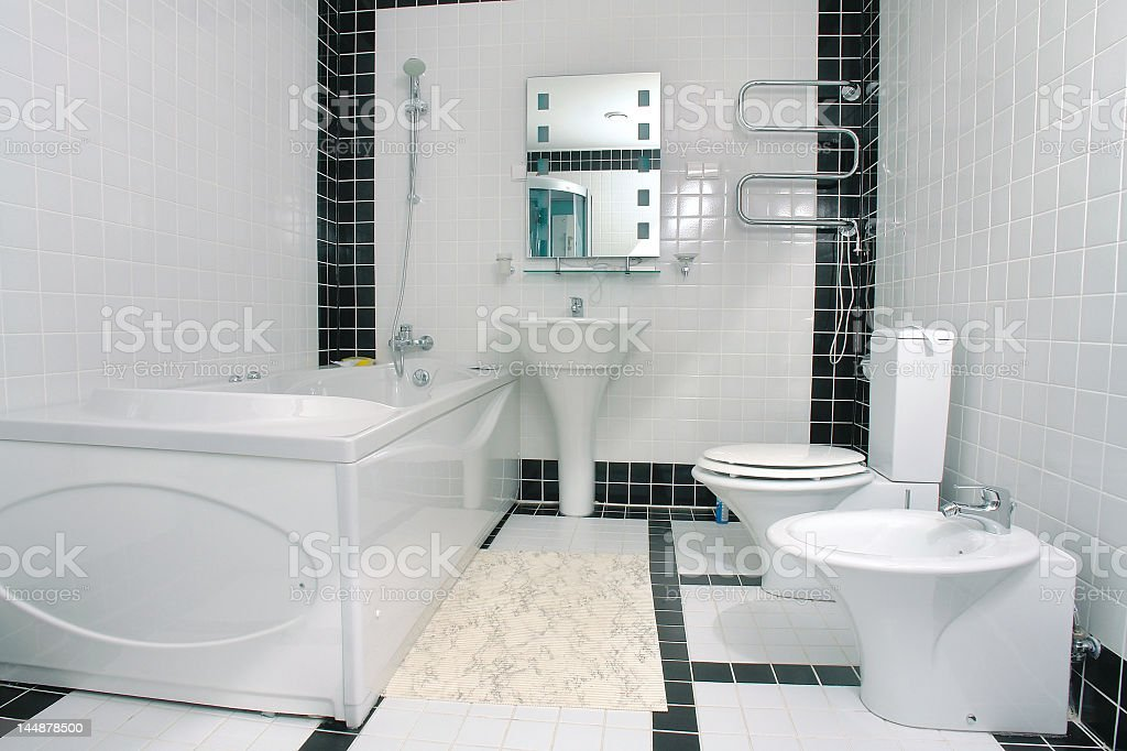 Bathroom with jacuzzi royalty-free stock photo