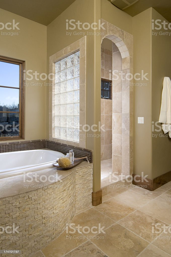 Bathroom with tub royalty-free stock photo