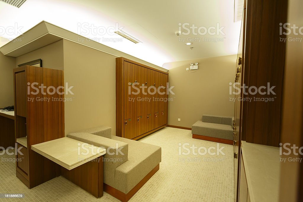 Bathrooms locker room royalty-free stock photo