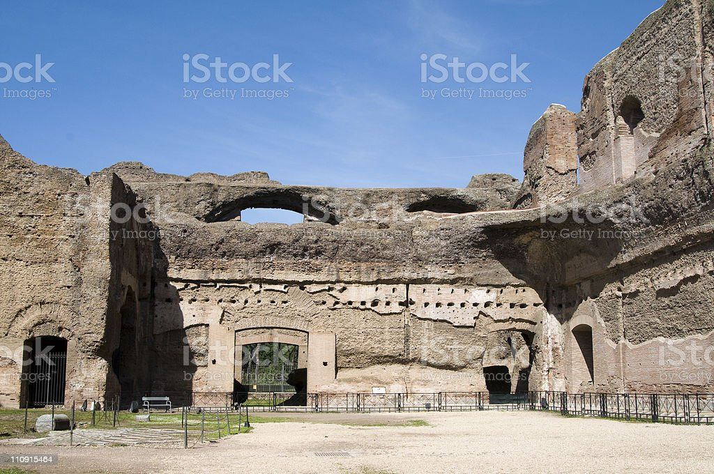 Baths of Caracalla royalty-free stock photo