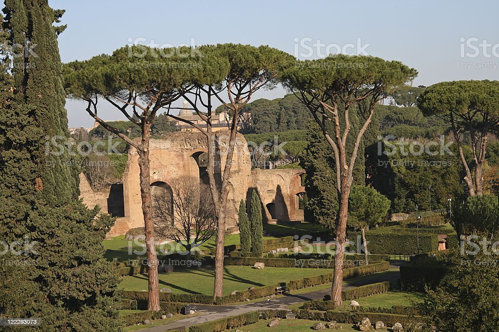 Baths of Caracalla stock photo