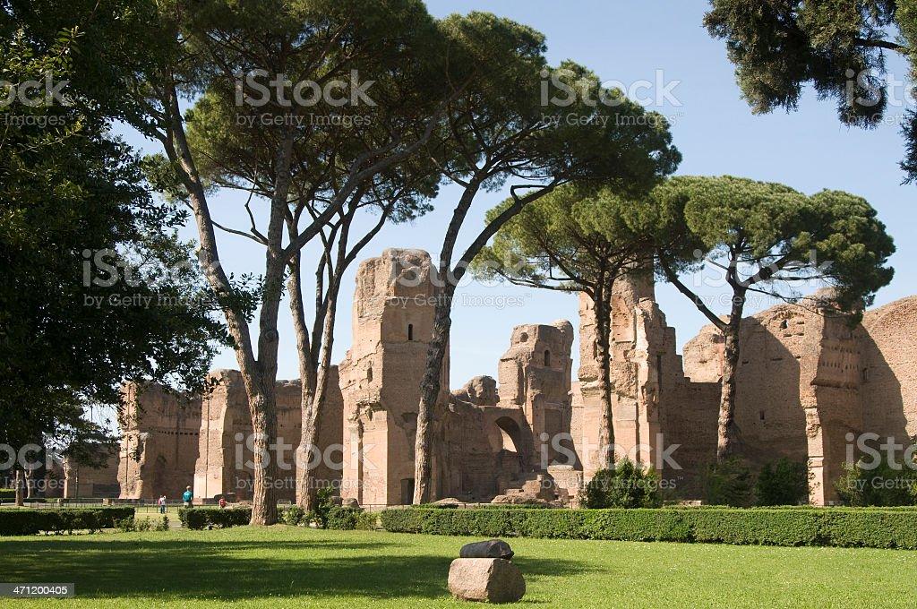 Baths of Caracalla royalty-free stock photo