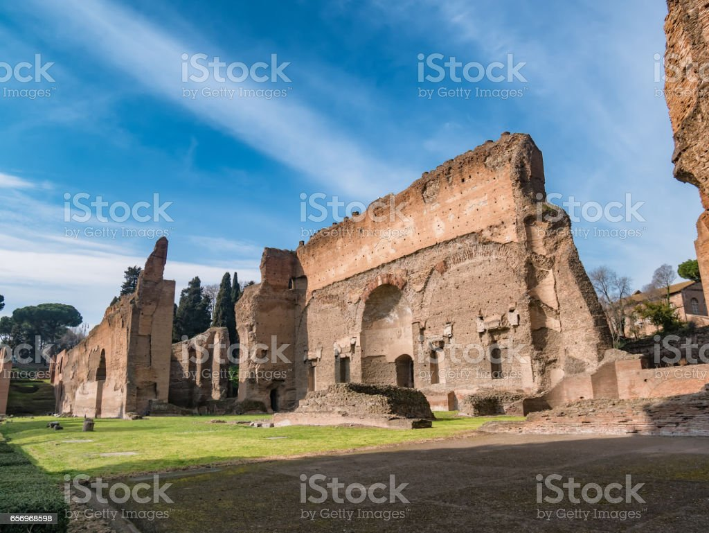 Baths of Caracalla stock photo