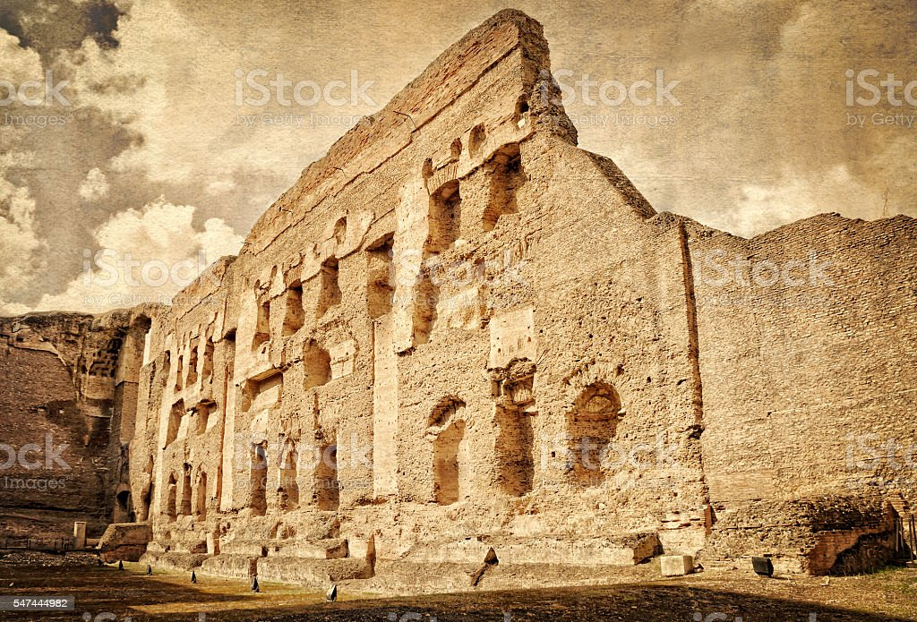 Baths of Caracalla - Rome Italy stock photo