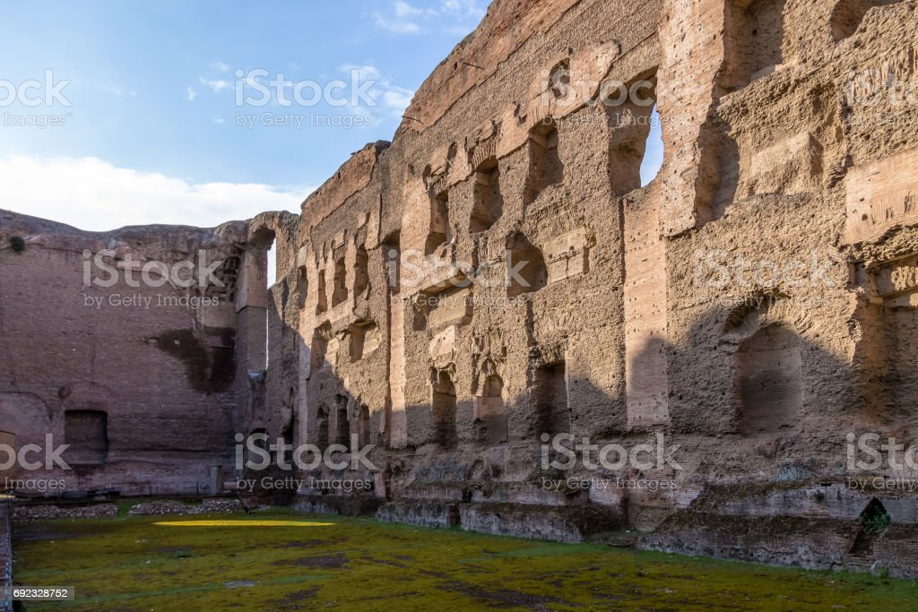 Baths of Caracalla (Termas di Caracalla) ruins - Rome, Italy stock photo