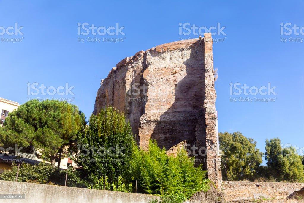 Baths of Caracalla (Termas di Caracalla) ruins - Rome, Italy stock photo