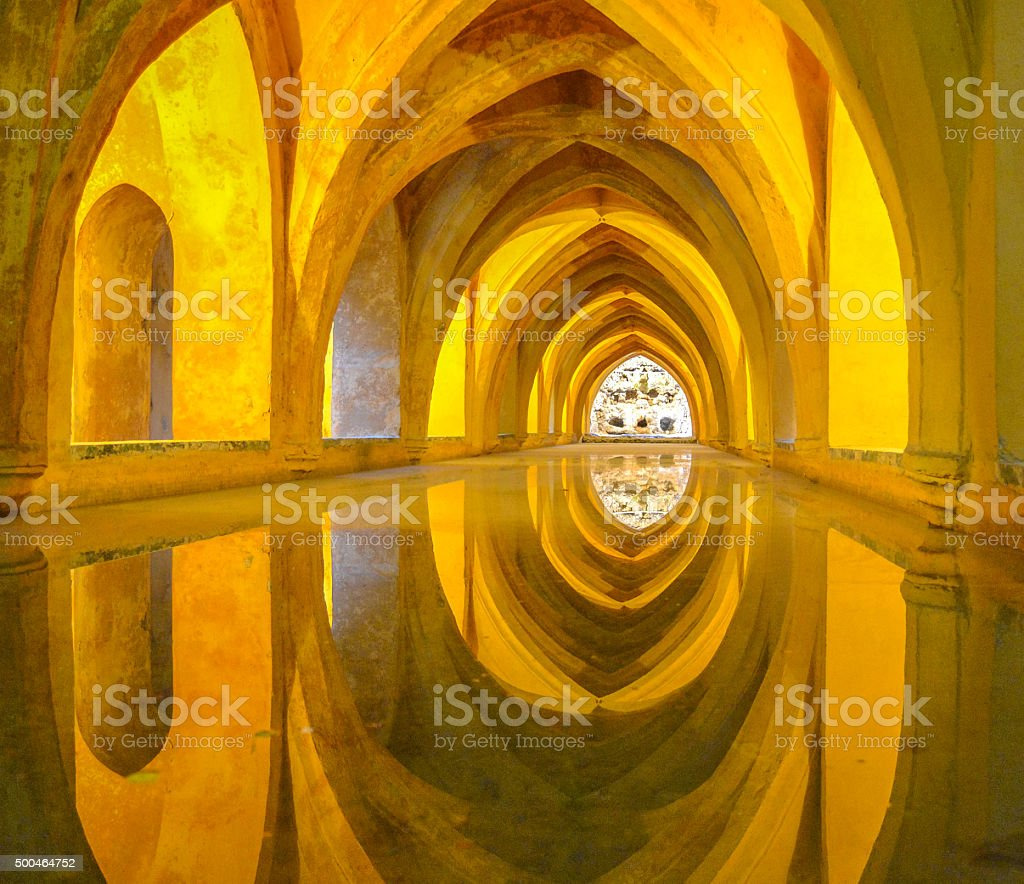 Baths of Dona Maria Padilla in the Royal Alcazars, stock photo