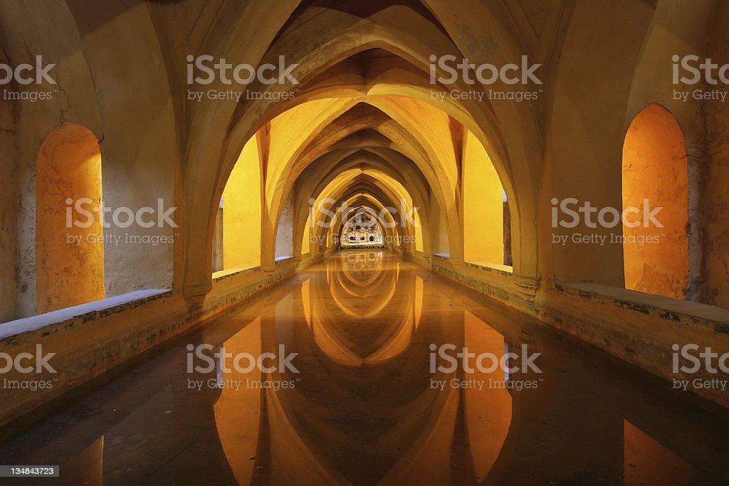 Baths of Dona Maria Padilla royalty-free stock photo