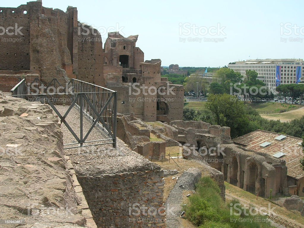 Baths of Maxentius stock photo