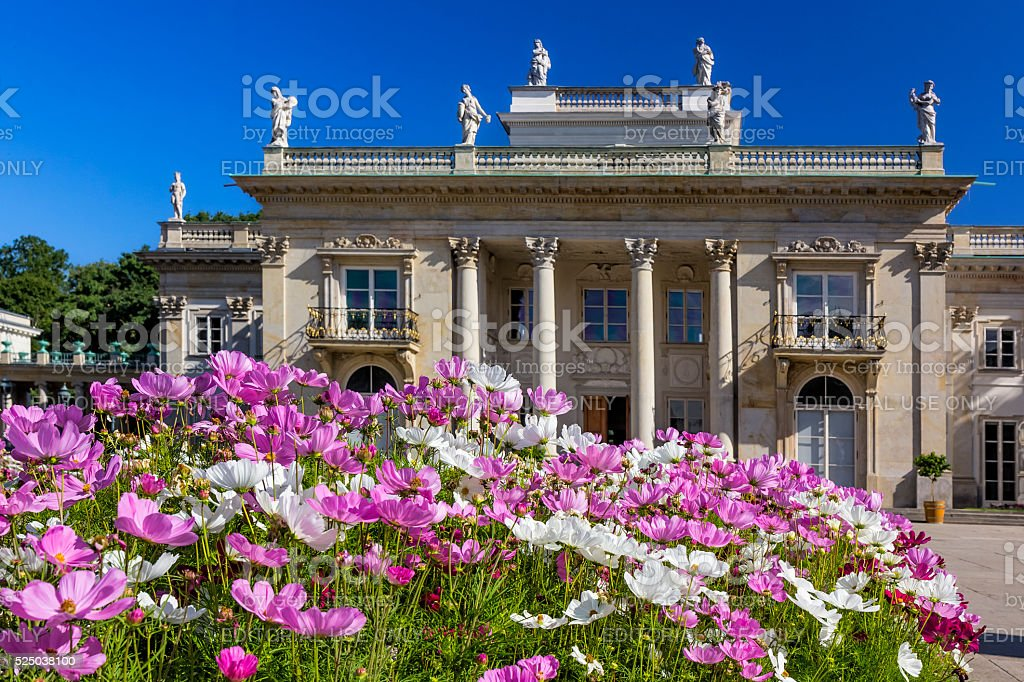 Baths Palace, Warsaw, Poland stock photo