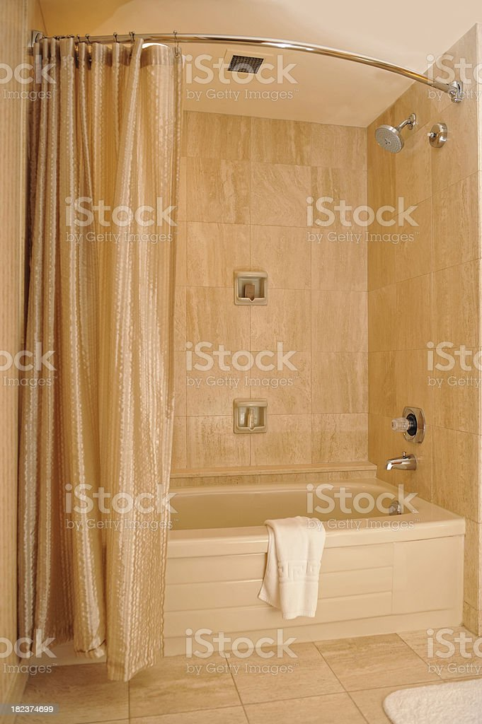 Bathtub and Shower royalty-free stock photo