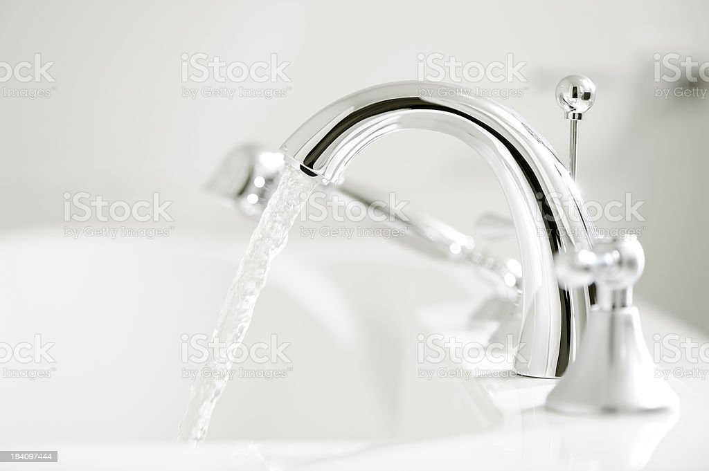 Bathtub faucet royalty-free stock photo