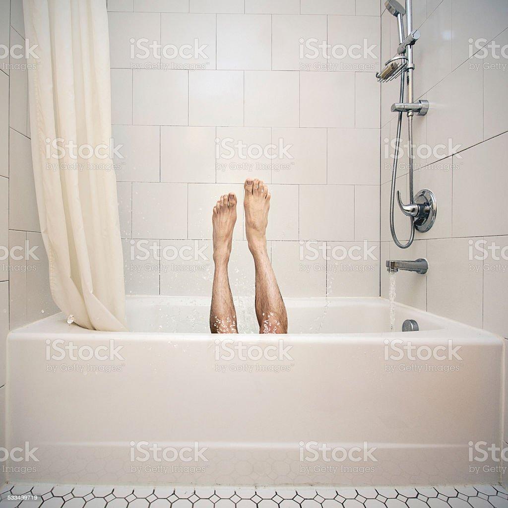 Bathtub High Dive stock photo