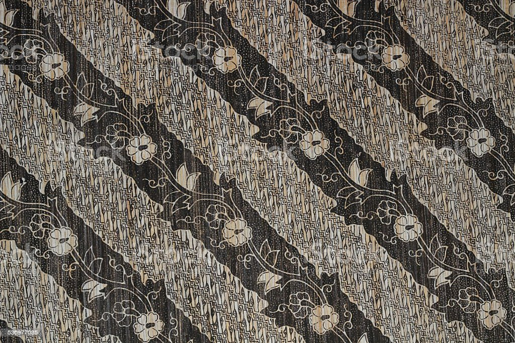 batik design from Indonesia stock photo
