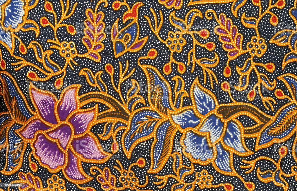 Batik design royalty-free stock photo