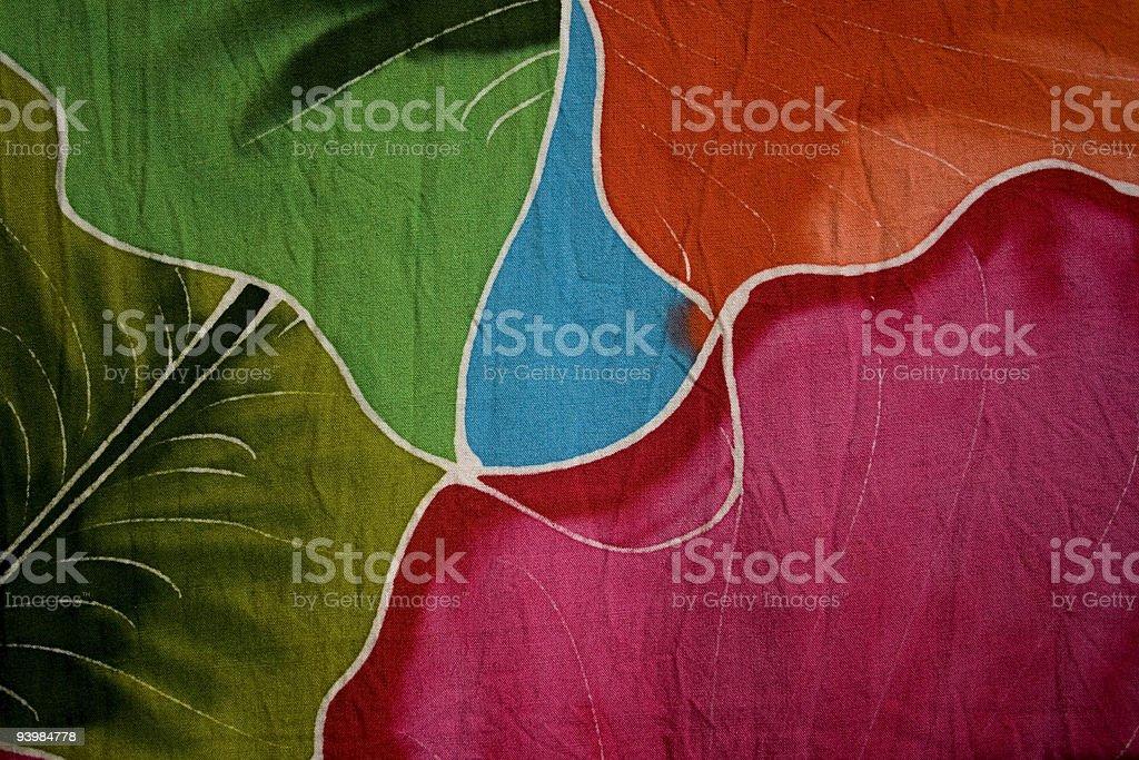 Batik fabric stock photo