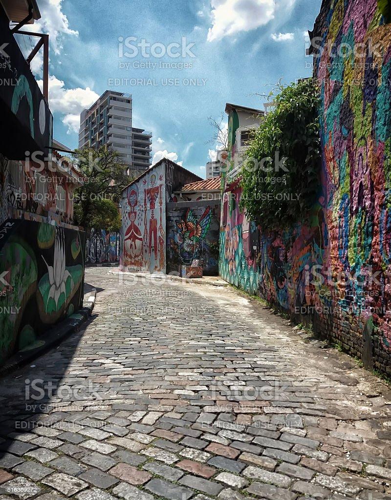 Batman Alley Street Art stock photo