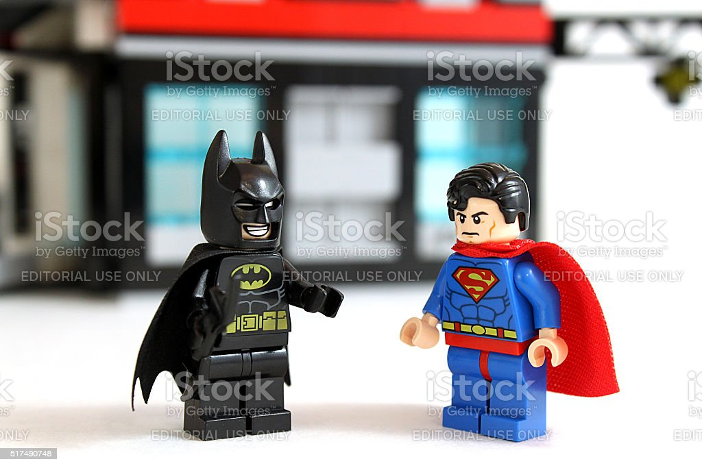 Batman and Superman stock photo
