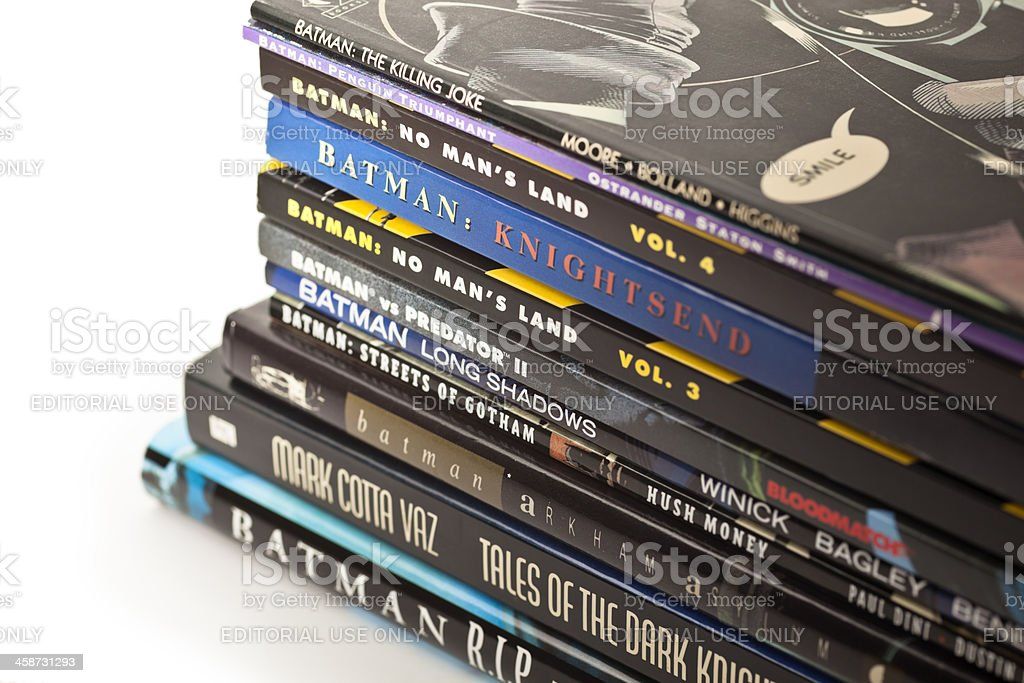Batman Graphic Novels stock photo
