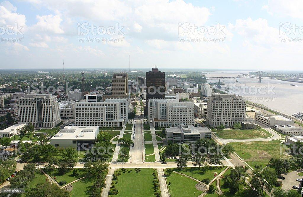 Baton rouge from Louisiana state capitol,Louisiana stock photo