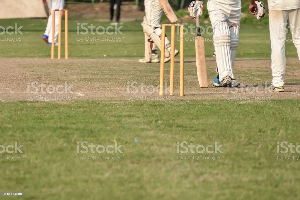 Batsman Running stock photo