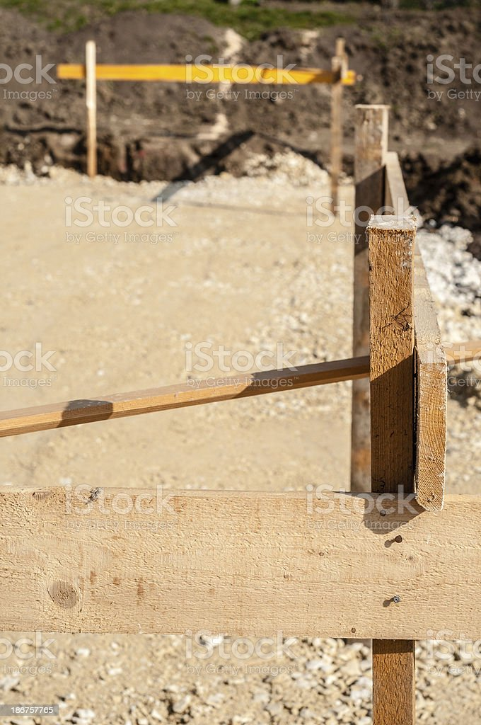 Batter on a construction site stock photo