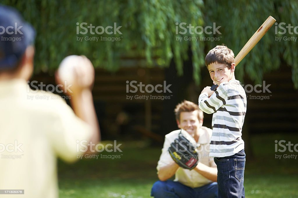 Batter up! royalty-free stock photo