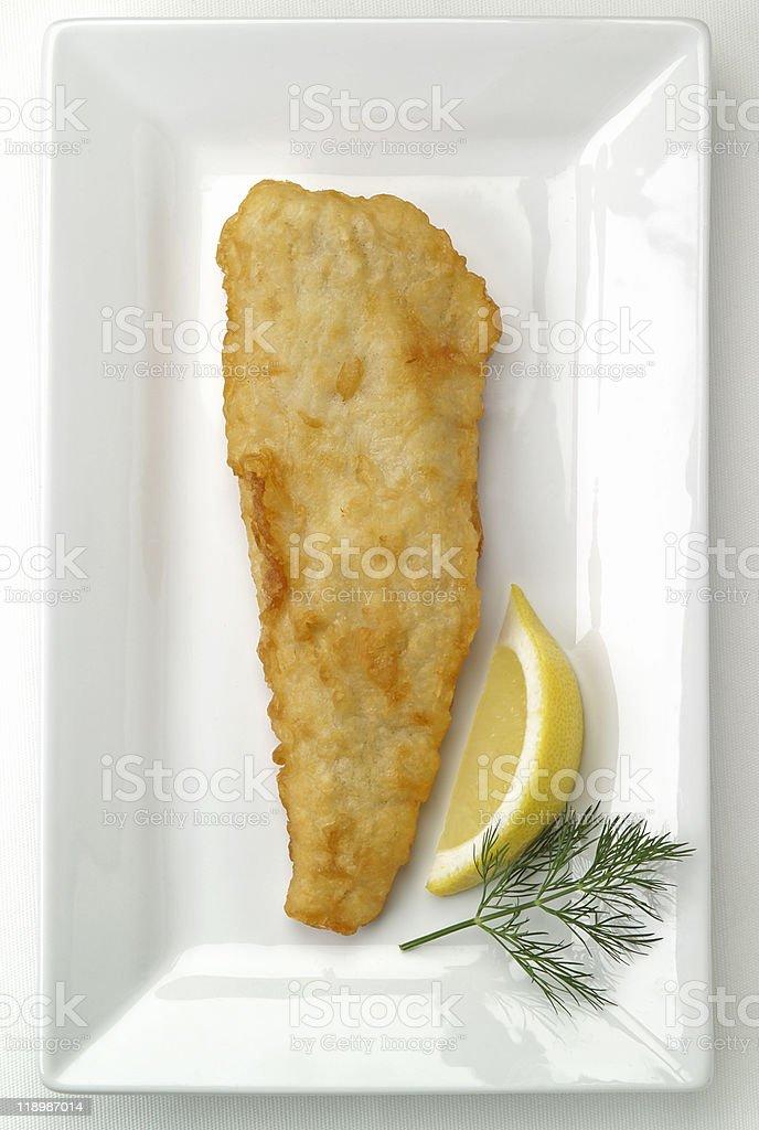 battered fish fillet stock photo