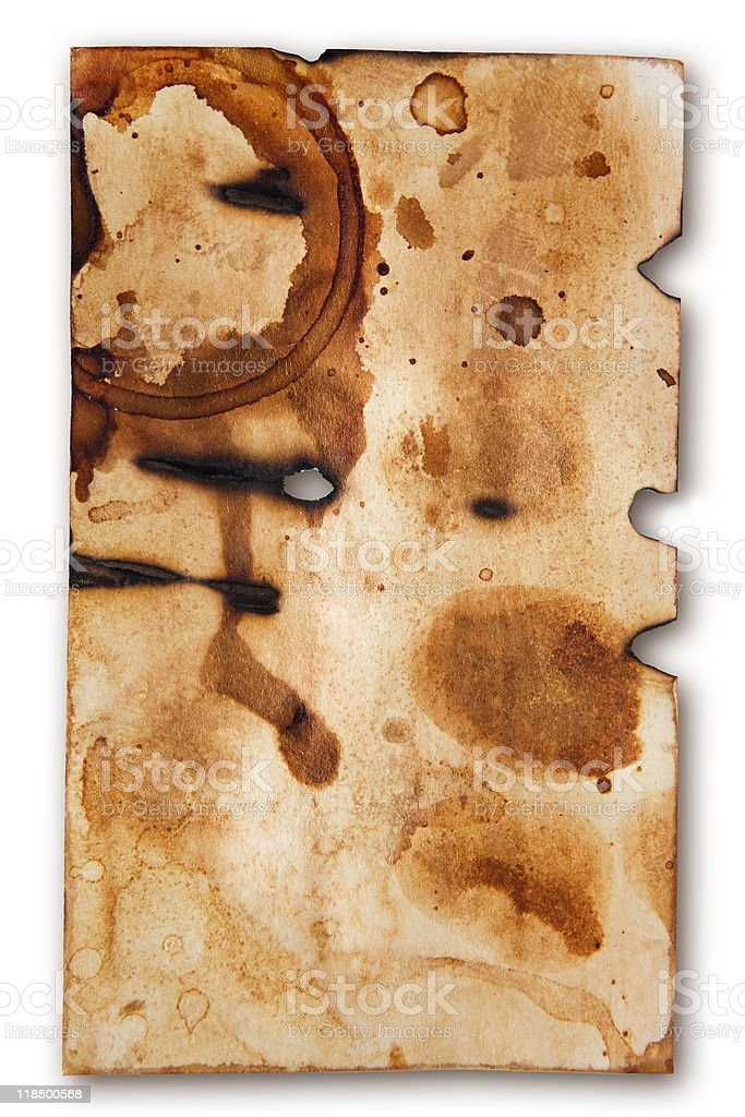 Battered Old Business Card stock photo