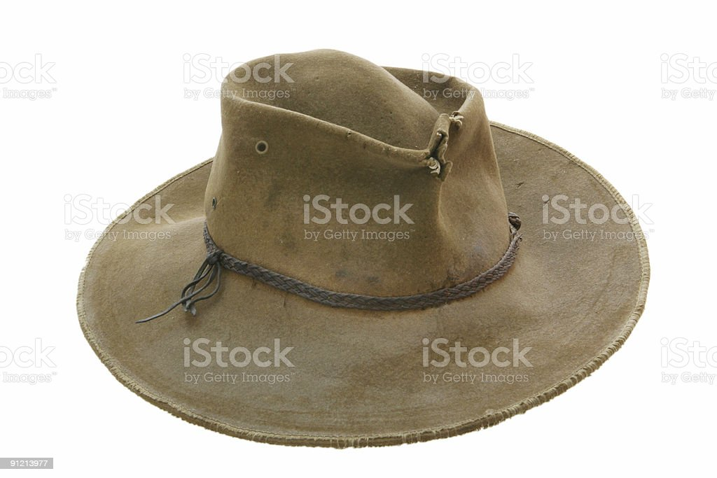 Battered Old Cowboy Hat stock photo