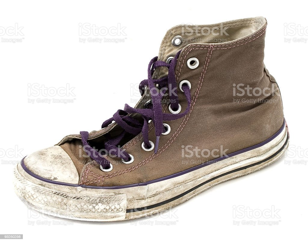 Battered old Shoe royalty-free stock photo