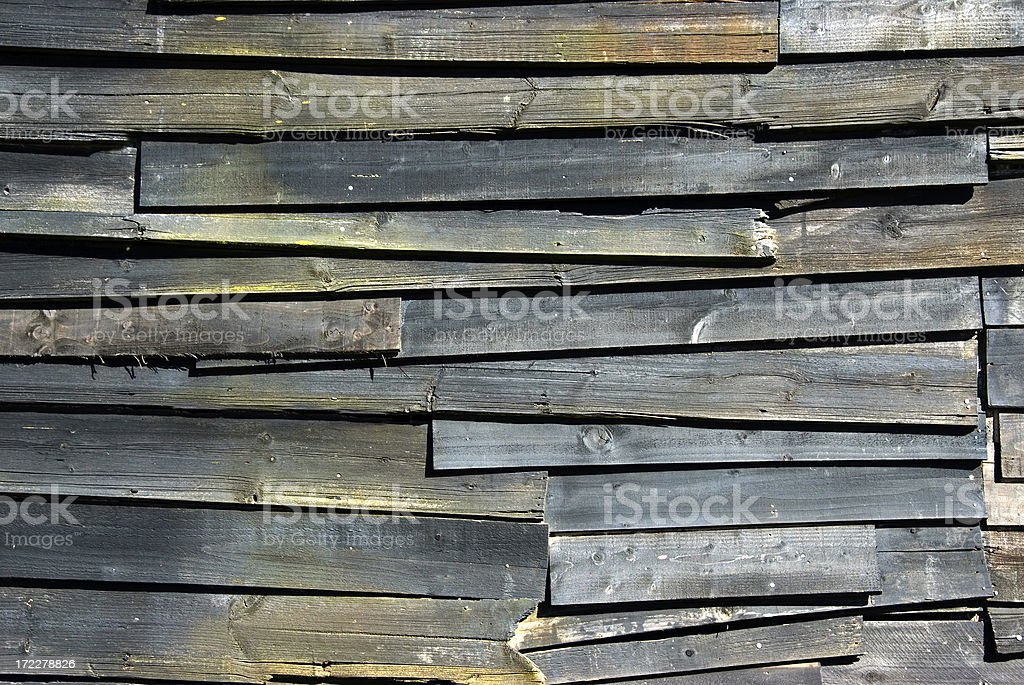 Battered old wooden fence royalty-free stock photo