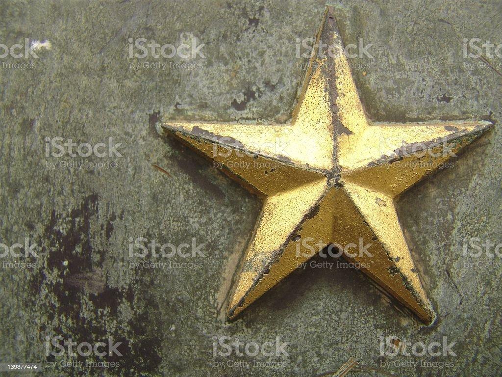 Battered Star stock photo
