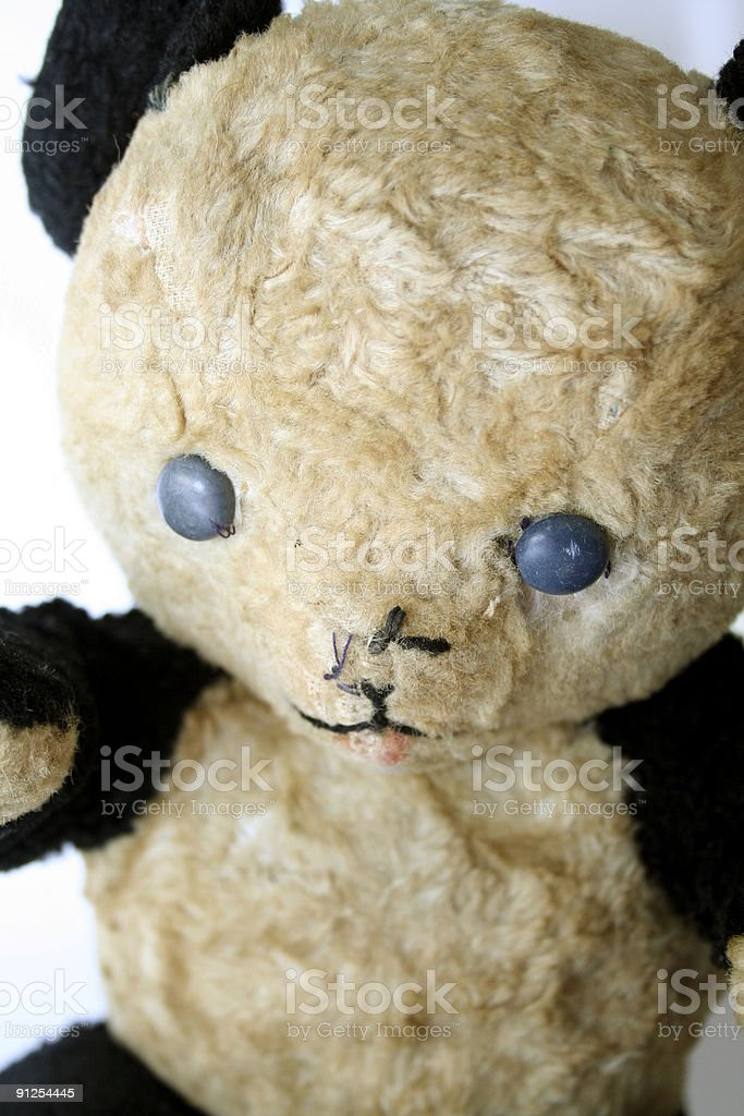 Battered Vintage Teddy Bear Detail royalty-free stock photo